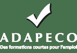 Logo ADAPECO Footer blanc